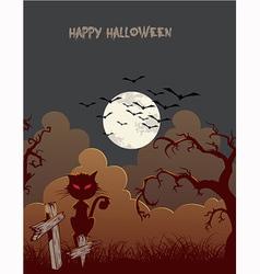 halloween background vector image