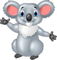 Happy koala waving vector