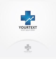 health statistic logo vector image