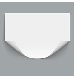 Horizontal empty paper sheet vector image