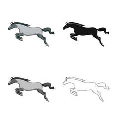 Horse and gallop logo set vector