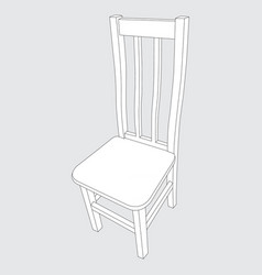 image of a wooden chair vector image