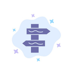 Index navigation road blue icon on abstract cloud vector