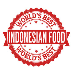 Indonesian food sign or stamp vector