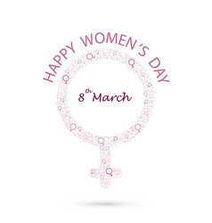 international womens day iconwomens day vector image