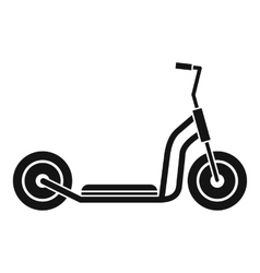 Kick scooter icon simple style vector