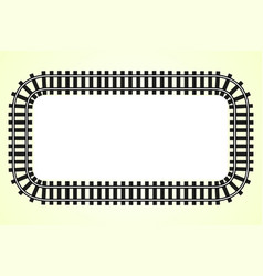 locomotive railroad track frame rail vector image