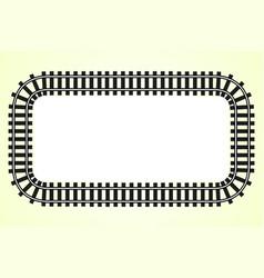 Locomotive railroad track frame rail vector