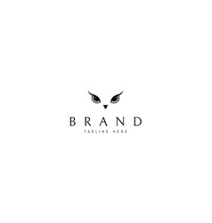 logo on which an abstract image an owl vector image