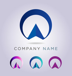 logo template circle shape and arrow for your vector image