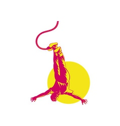 Man Bungy Jumping vector image