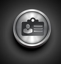 Metallic identity card vector