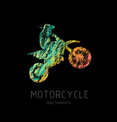 motorcycle creati grunge silhouette vector image