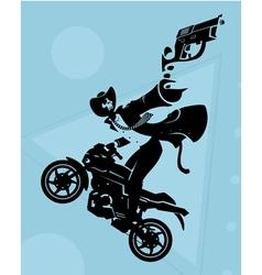 Motorcycle gang vector image