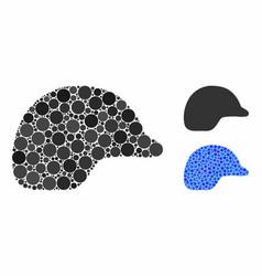 Motorcycle helmet mosaic icon spheric items vector