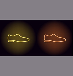 neon man shoe in yellow and orange color vector image