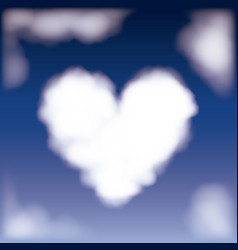 nightly background with cloud in shape of heart in vector image