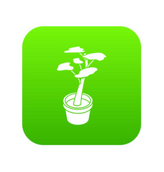 office flower icon green vector image
