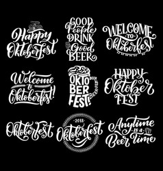 oktoberfest german beer festival lettering vector image