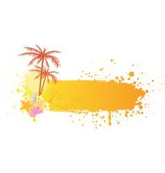 Orange sea banner grunge vector image vector image