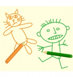 pencil figure vector image