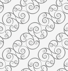 Perforated diagonal spiral flourish shapes vector image