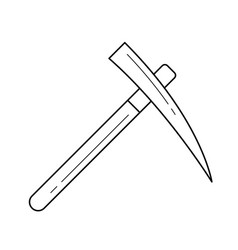 pickaxe line icon vector image