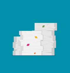pile of papers in flat style vector image