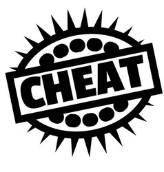 Print cheat stamp on white vector
