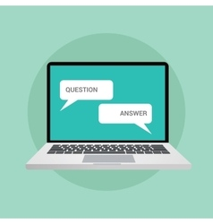 question and answer concept in chat vector image