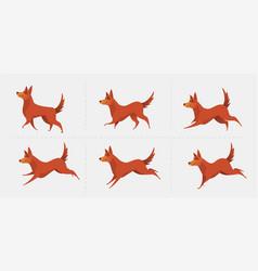 red dog symbol year 2018 vector image
