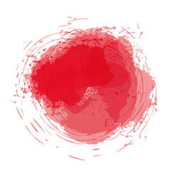 Red watercolor art paint vector