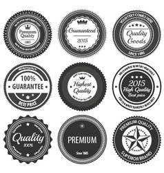 Retro Label Badges vector image