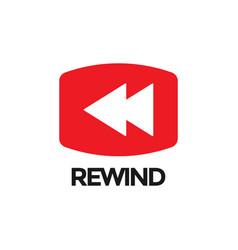 rewind video graphic icon design template vector image