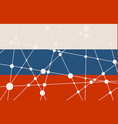 russia flag concept vector image