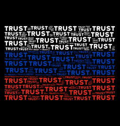 russian flag pattern of trust text items vector image