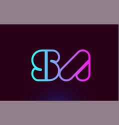 Sa s a pink line alphabet letter combination logo vector
