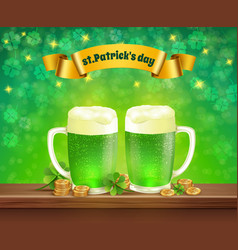saint patricks day beer composition vector image