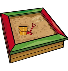 sandbox with toys cartoon vector image
