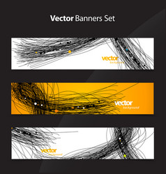 Set of abstract colorful web headers vector
