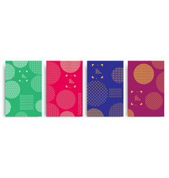 set of colored covers with circles and different vector image