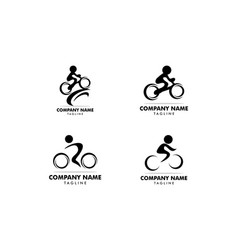 set of cycle sport logo template design vector image
