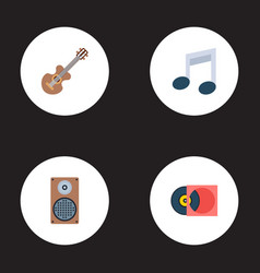 set of melody icons flat style symbols with vector image