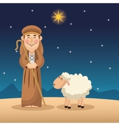 Shepherd cartoon design vector