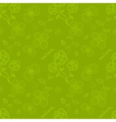Spring time seamless pattern vector image