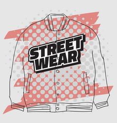 street wear fashion 90s casual urban style vector image