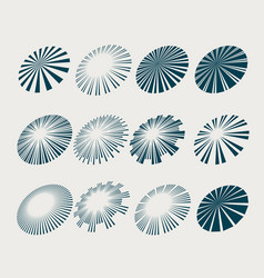 Sunburst rays and beams set in perspective style vector