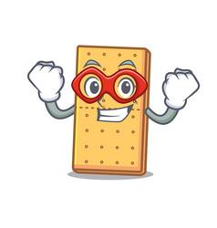 Super hero graham cookies character cartoon vector