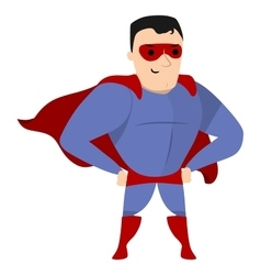 Super hero standing vector