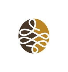 Tailor thread logo design template vector